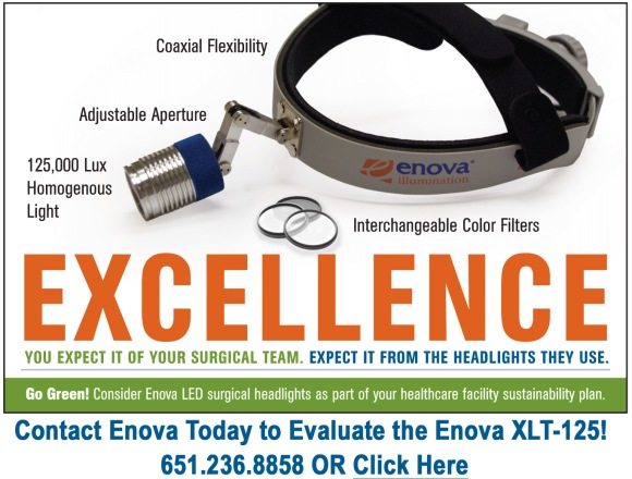 Evaluate the Enova XLT-125 LED Surgical Headlight