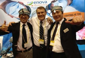 Jim Nelson of Enova with two Medical Pine representatives in Japan.