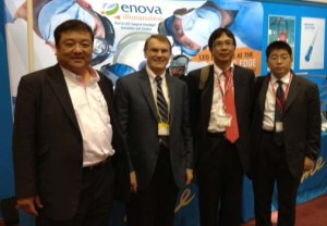 (R to L) Mr Matsumura, founder of Medical Pine, with Jim and two surgeons at the 67th Annual Scientific Meeting of the Japanese Association for Thoracic Surgery.