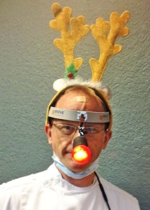 James Hamman, DDS, wearing the XLT-125 Rudolph Edition blazed the way for the holiday parade.