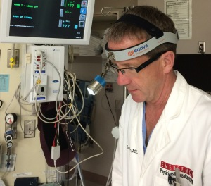 Dr. David M. Larson wearing the Cyclops XLT-125
