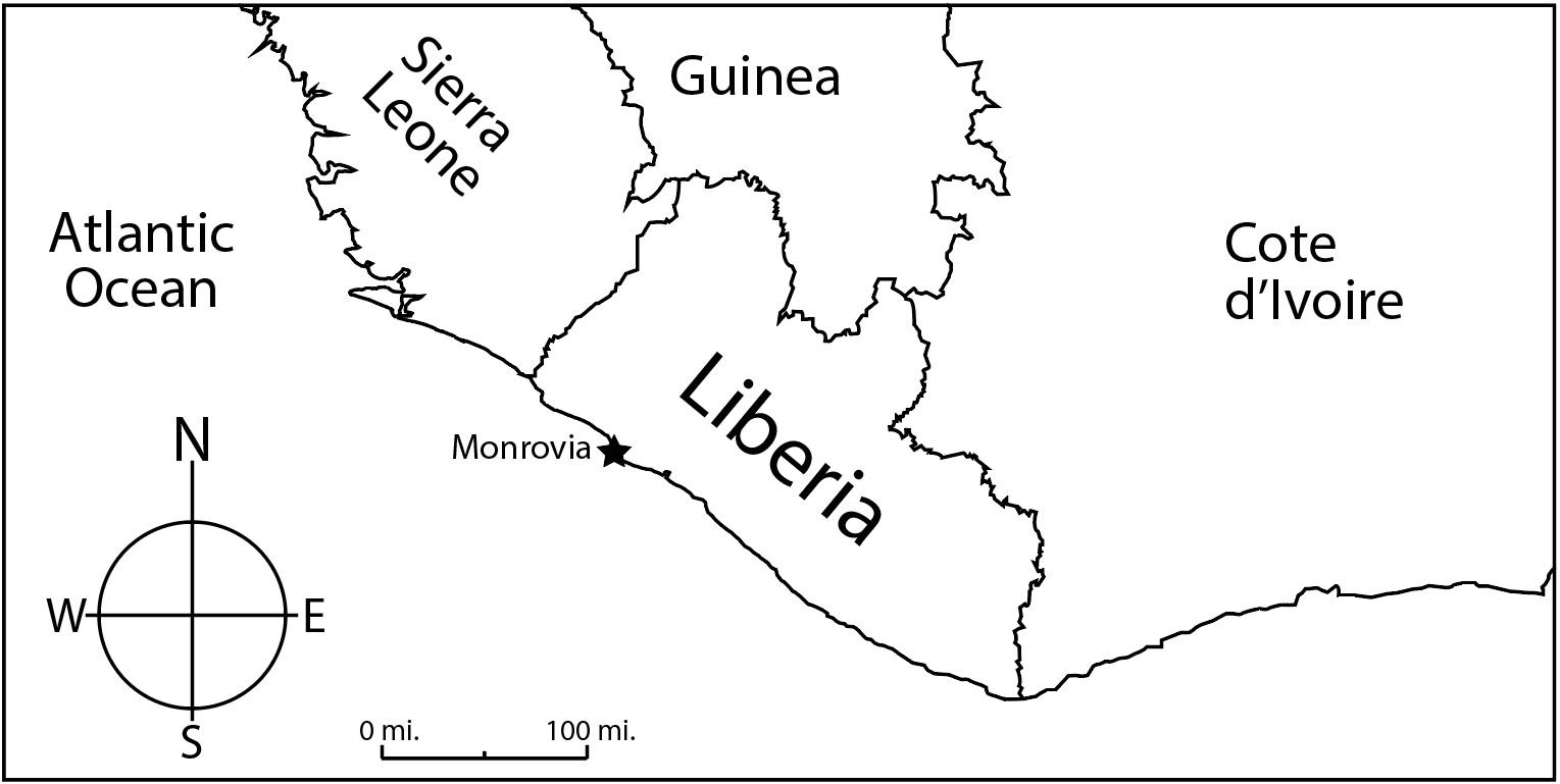 Liberia map jpeg